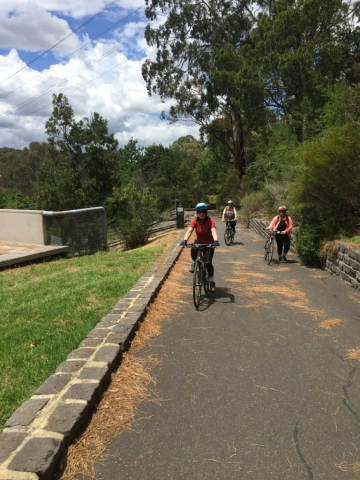 Just crossed the pipe bridge at Fairfield Park.