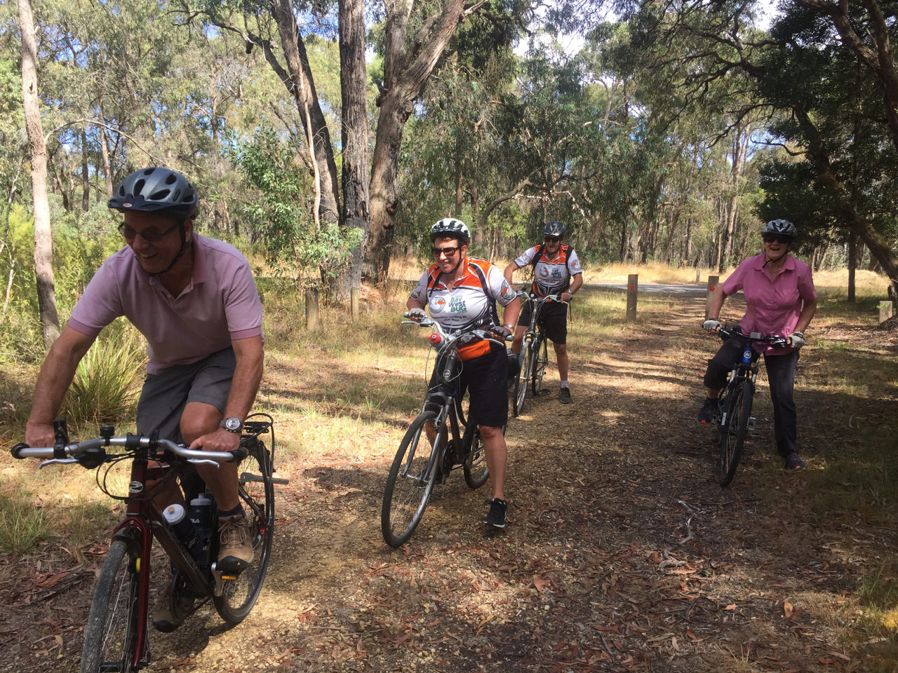 Setting off on the Tiger Rail Trail