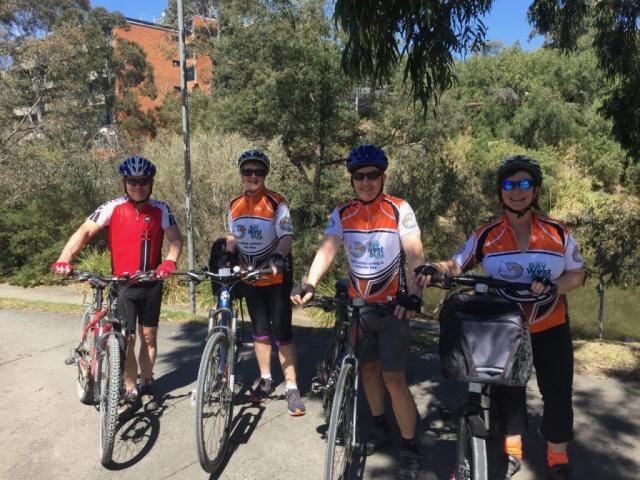 Cycling along Yarra Boulevard on the Main Yarra trail.